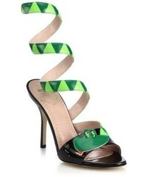 Moschino Cheap & Chic Moschino Cheap And Chic Snake Wrap Around Patent Leather Sandals