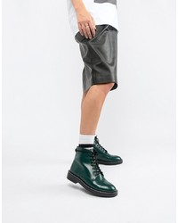 ASOS DESIGN Anarchy Leather Lace Up Boots