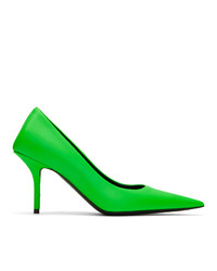 Balenciaga Green Square Knife Heels