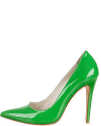 Alice + Olivia Patent Leather Pointed Toe Pumps