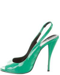 Pierre Hardy Patent Leather Slingback Pumps