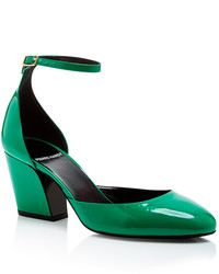 Pierre Hardy Green Patent Leather Calamity Heels