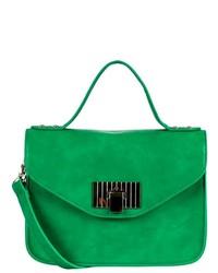 Sam Dae Enterprises Krista Structured Handbag Emerald Green