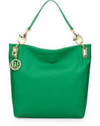 Green Leather Tote Bag
