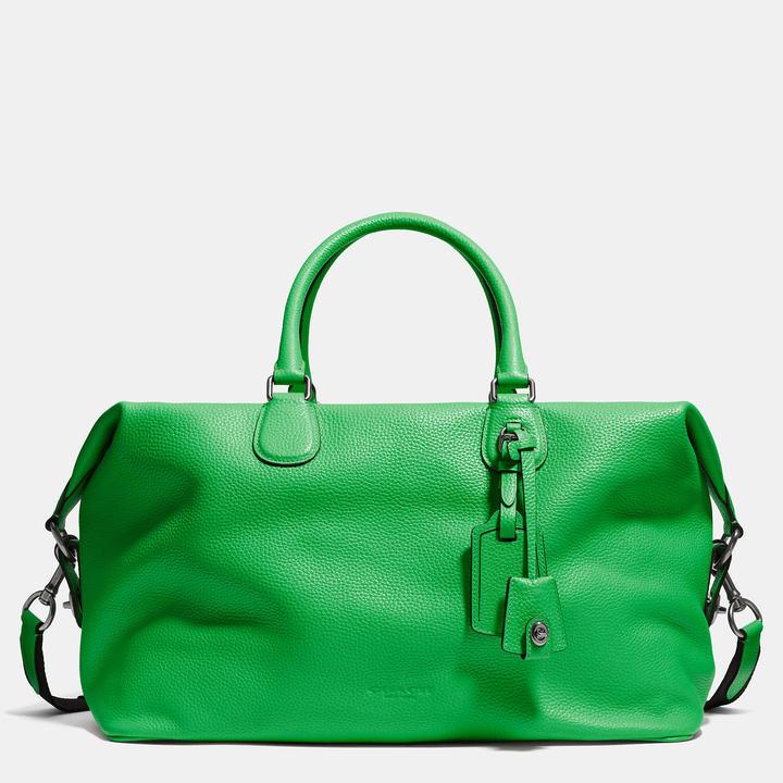 australia green leather tote bags coach explorer bag in pebble leather  63864 49f58 08bde9040bcb3