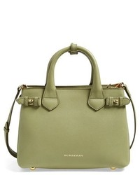 Small banner leather tote green medium 1328078