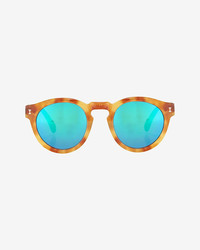Leonard mirrored lense sunglasses ambergreen medium 269261