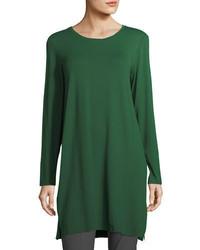 Eileen Fisher Long Sleeve Lightweight Viscose Jersey Tunic