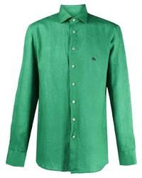 Etro Two Tone Linen Shirt