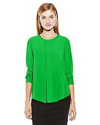 Center pleated long sleeve blouse medium 174989
