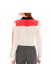 73a90e8f4ccf63 jcpenney Worthington Long Sleeve Button Front Blouse, $36 | jcpenney ...