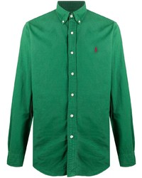 Polo Ralph Lauren Logo Embroidered Long Sleeve Shirt