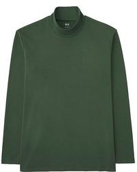 Uniqlo Soft Touch Mock Neck Long Sleeve T Shirt