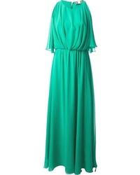 MSGM Split Sleeve Maxi Dress