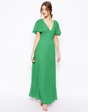 41d2e89a1b2 ... Asos Ruffle Sleeve Pleated Maxi Dress ...