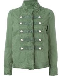Ermanno scervino embroidered military jacket medium 493344