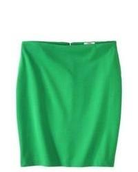 Nobland International Merona Ponte Pencil Skirt Mahal Green 10