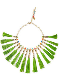 Aloha gold tone raffia and quartz necklace green medium 1251612