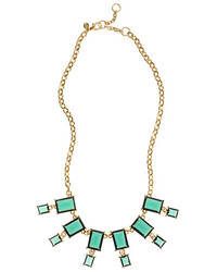 Brooks Brothers Glass Bead Bib Necklace
