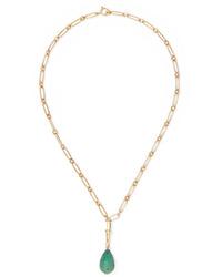 Pascale Monvoisin Debbie N1 9 Karat Gold Turquoise Necklace