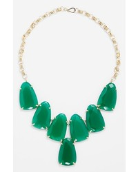 Kendra scott harlow frontal necklace green onyx gold medium 165795