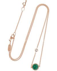Piaget Possession 18 Karat Gold Malachite And Diamond Necklace