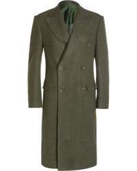 Richard James Herringbone Wool Overcoat