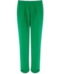 Green silk alexa trousers medium 64566