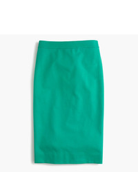 J.Crew Tall No 2 Pencil Skirt In Bi Stretch Cotton