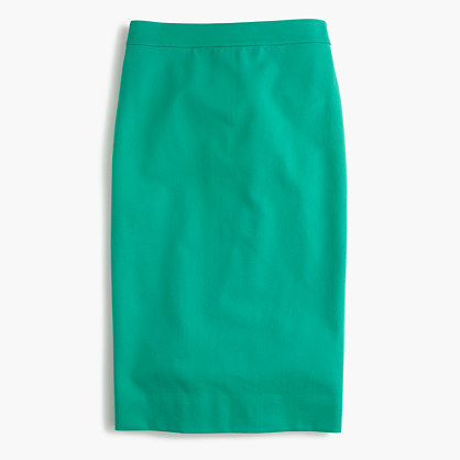 56a2fc4d61e1 J.Crew Petite No 2 Pencil Skirt In Two Way Stretch Cotton, $79 | J ...