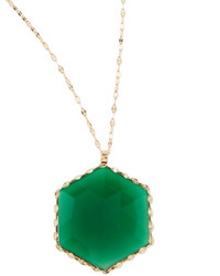 Lana 14k Envy Green Onyx Pendant Necklace