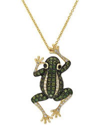 EFFY Diaverde By White Diamond Frog Pendant Necklace In 14k Gold