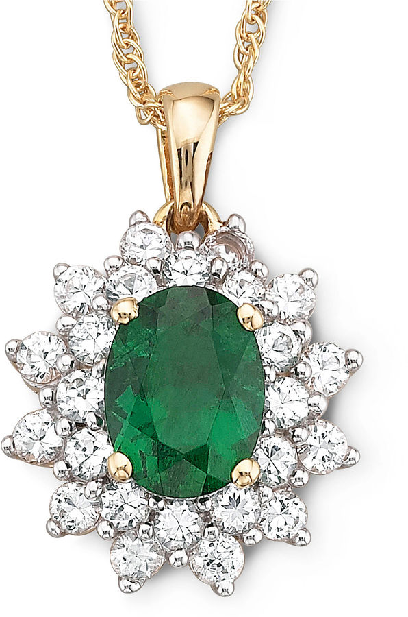 Jcpenney fine jewelry lab created emerald and white sapphire pendant jcpenney fine jewelry lab created emerald and white sapphire pendant mozeypictures Image collections