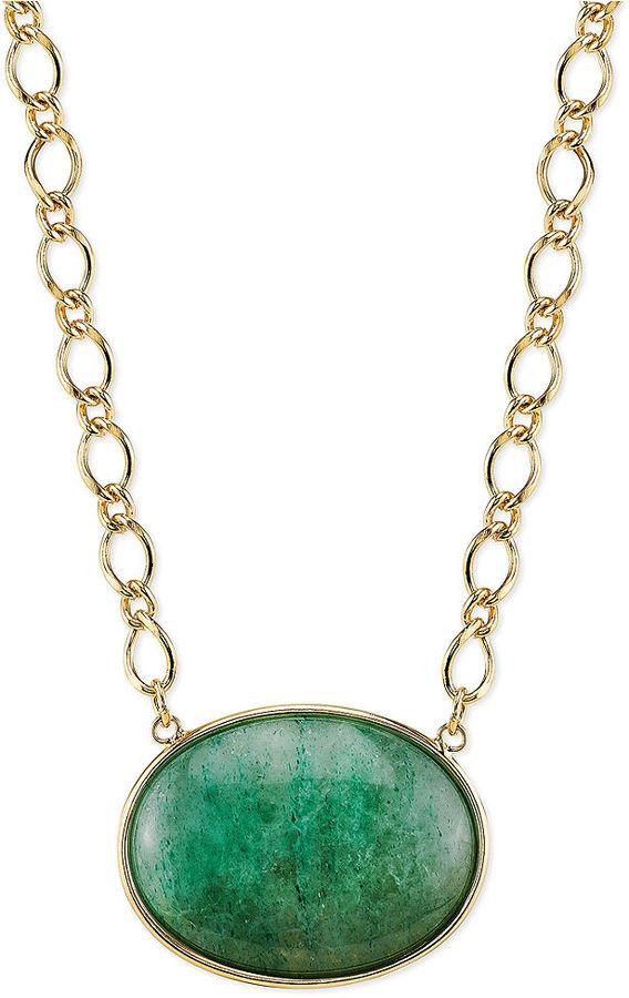2028 gold tone green aventurine stone pendant necklace where to 2028 gold tone green aventurine stone pendant necklace aloadofball Images