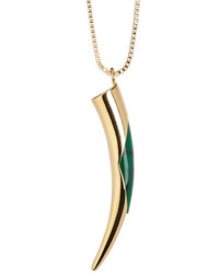 Vince Camuto Green Inlaid Horn Pendant Necklace