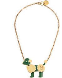 M Missoni Poodle Pendant Necklace Green