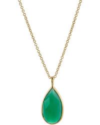 Ippolita Rock Candy Green Agate Teardrop Pendant Necklace