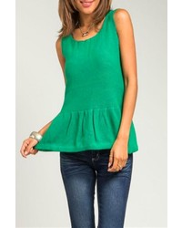 Peplum knit top medium 117707