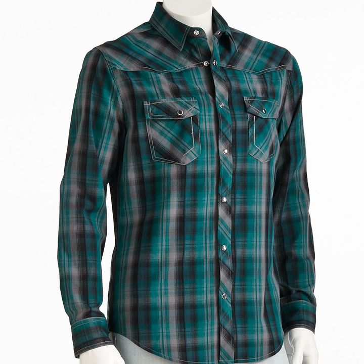 Helix Tm Plaid Western Button Down Shirt Where To Buy