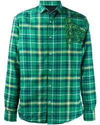 Philipp Plein Long Sleeve 3d Embroidered Shirt