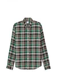 Plaid brushed cotton shirt medium 8818