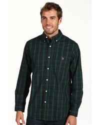 Men S Green Plaid Long Sleeve Shirts By U S Polo Assn Men S Fashion