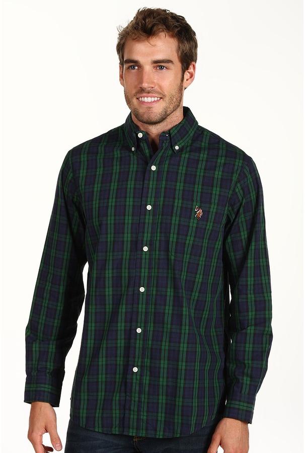 20a1e700 Us Polo Assn Yd Oxford Plaid Shirt Long Sleeve Button Up