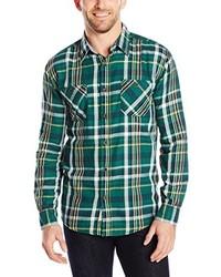 Weatherproof vintage plaid twill shirt medium 211779