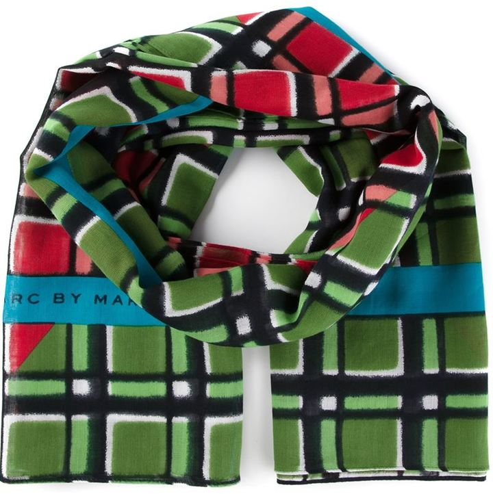 Marc by Marc Jacobs Toto Plaid Border Scarf | Where to buy & how to wear