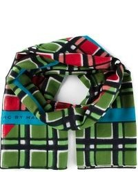 Toto plaid border scarf medium 93613
