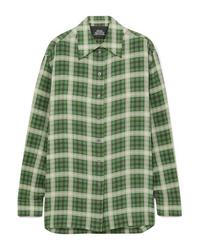 Marc Jacobs Oversized Checked Silk Chiffon Shirt