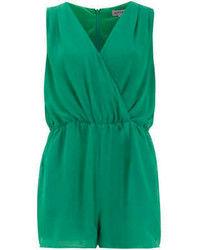 Alice & You Green Chiffon Wrap Playsuit