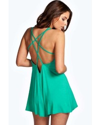 Boohoo Roise Strappy Jersey Playsuit