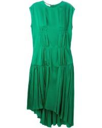 Cédric Charlier Pleated Asymmetric Dress